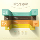 3d cube abstract infographics Stock Images