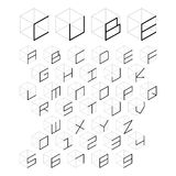3d cube alphabet and number Royalty Free Stock Photos