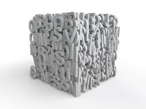 3d cube with alphabets Royalty Free Stock Photos