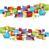 3d Cube Arrows. An image of a 3d transparent cubes with arrows Royalty Free Stock Photos