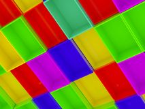 3D Cube Boxes Background. Stock image Royalty Free Stock Images