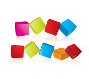 3d cube Buttons Stock Photos