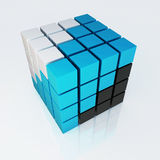 3d cube colorful 4x4 design Stock Photos