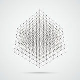 3d Cube Connected Dots Royalty Free Stock Images