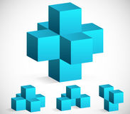 3d Cube Emblems or Icons. Eps 10 Vector Illustration of 3d Cube Emblems or Icons Stock Image