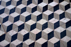3D Cube Floor Tile Old Royalty Free Stock Photos