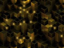 3d cube le fond abstrait Photographie stock libre de droits