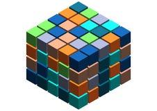3d cube le fond abstrait Images libres de droits
