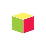 3d cube logo design icon,.  Stock Photo