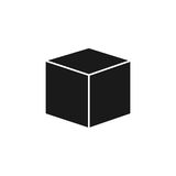 3d cube logo design icon,.  Royalty Free Stock Photos