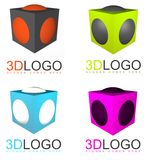 3D cube logo Royalty Free Stock Image