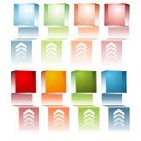 3d Cube Menu. An image of a set of 3d menu cubes Stock Images