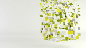 3d cube polygon transformation, geometric abstract background stock video