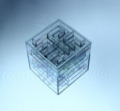 3d cube v.7 Royalty Free Stock Images
