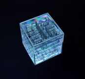 3d cube v.6 Royalty Free Stock Image