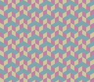 3d Cube Vector Seamless Pattern. Royalty Free Stock Photography