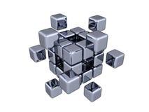 3D cubes - éléments Images stock