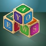 3d cubes письма Игра логики для ребенка иллюстрация штока