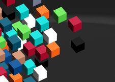 3D cubes abstract background; Royalty Free Stock Images