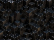 3D cubes abstract background Royalty Free Stock Images