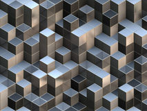 3D cubes abstract background Stock Images