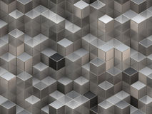 3D cubes abstract background Stock Photos