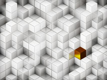 3D cubes abstract background. With a lot of concepts and metaphors: business, team, technologies, industry, digital, computer management, crowd, originality Royalty Free Stock Photo