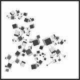 3d cubes Royalty Free Stock Images