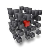 3D cube Royalty Free Stock Photo