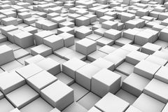 3D cubes background. Abstract 3D cubes horizontal background Stock Photos