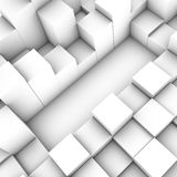 3D cubes background. Art white royalty free illustration