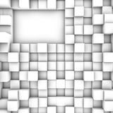 3D cubes background. Art white stock illustration