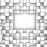 3D cubes background. Art white Stock Images