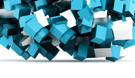 3D Cubes background business concept rendered Stock Photography