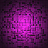 3D Cubes Background. 3D Cube Background on purple Royalty Free Stock Images