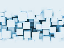 3D cubes background. Digital abstract 3d background cluster of cubes Royalty Free Stock Photography