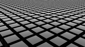 3D cubes background. Grey cubes on a black background Stock Image