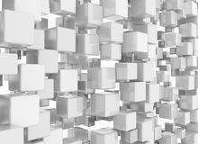 3D cubes background white. Wall digital Royalty Free Stock Photos
