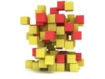 3D Cubes block. Assembling concept. Stock Photos