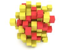 3D Cubes block. Assembling concept. Royalty Free Stock Images