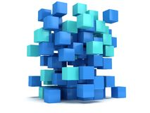 3D Cubes block. Assembling concept. Cubes block. Assembling concept. Teamwork Business. 3D render icon stock illustration