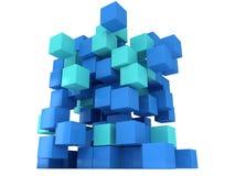 3D Cubes block. Assembling concept. Stock Image