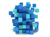 3D Cubes block. Assembling concept. Royalty Free Stock Image
