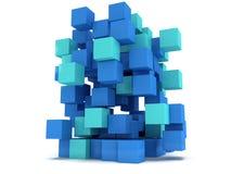 3D Cubes block. Assembling concept. Stock Images