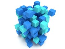 3D Cubes block. Assembling concept. Royalty Free Stock Photography