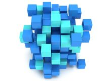 3D Cubes block. Assembling concept. Stock Photography