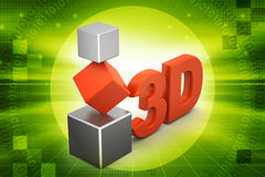 3d cubes. In color background Royalty Free Stock Image