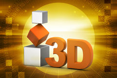 3d cubes. In color background Royalty Free Stock Photography