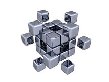 3D Cubes - Elements. (white or transparent background Stock Images