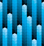 3d cubes equalizer background. 3d blue cubes equalizer seamless background Royalty Free Stock Photos